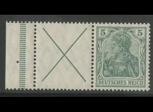 Dt. Reich, W 1.4 LR 1, postfrisch, Befund BPP, Mi. 900,-(12742)
