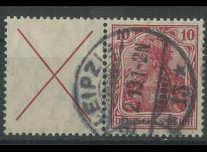 Dt. Reich, W 4 c, gestempelt, Topp-Zähnung, gepr. BPP, Mi.- für ** 3500,-(12758)