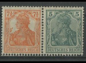 Dt. Reich, W 6 ab, ungebraucht, vollständige Zähnung, Mi. 120,- (12762)
