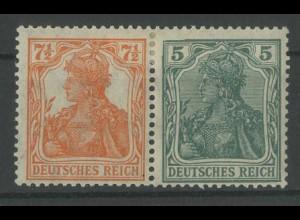 Dt. Reich, W 6 ab, ungebraucht, vollständige Zähnung, Mi. 120,- (12763)