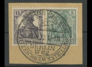 Dt. Reich, W 9 aa, Briefstück, vollständige Zähnung, Mi. 350,- (12770)