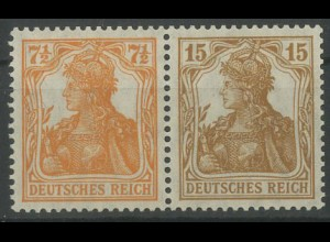 Dt. Reich, W 10 ba, ungebraucht, vollständige Zähnung, Mi. 300,- (12778)