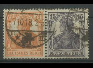 Dt. Reich, W 11 ba, gestempelt, vollständige Zähnung, Mi. 350,- (12784)