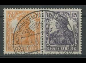 Dt. Reich, W 11 ba, gest., vollst. Zähn., gepr. Infla, Mi. 350,- (12785)