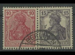 Dt. Reich, W 12 aa, gest., vollständige Zähn., Mi. 60,- (12790)