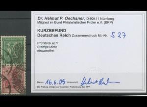 Dt. Reich, S 27, gestempelt, Kurzbefund BPP, Mi. 250,- (12823)