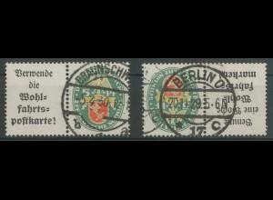 Dt. Reich, W 34 + W 35, gest., vollständige Zähnung, Mi. 120,- (12843)