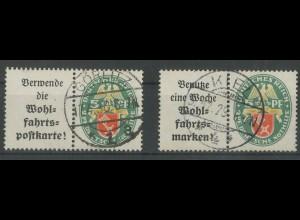 Dt. Reich, W 34 + W 35, gest., vollständige Zähnung, Mi. 120,- (12844)