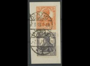 Dt. Reich, S 8 ba, Danzig-Stempel, gepr. Infla/BPP (Tworek), Mi. 200,- (12856)