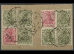 Dt. Reich, S 23 + S 25, Briefstück, Fotobefund BPP, Mi. 300,- (12861)