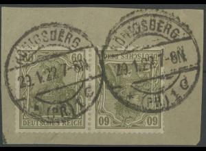 Dt. Reich, K 4, Briefstück, gepr. BPP, Mi. 25,- (12865)