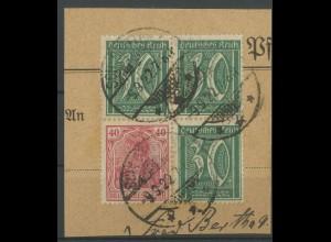 Dt. Reich, S 27, Briefstück, gepr. BPP, Mi. 250,- (12866)