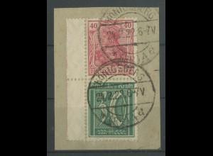 Dt. Reich, S 29 LR 1, Briefstück, gepr. BPP, Mi.-Handbuch 55,- (12867)