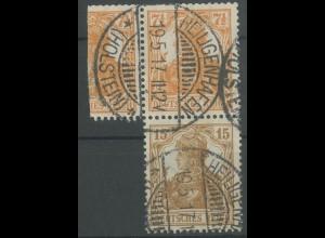 Dt. Reich, S 7 aa, gestempelt, Befund BPP, Mi. 250,- (12883)