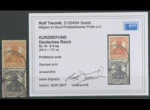 Dt. Reich, S 8 ba, gestempelt, Kurzbefund BPP, Mi. 200,- (12887)