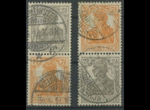 Dt. Reich, S 11 a + S 13 a, gestempelt, gepr. Infla/BPP, Mi. 70,- (12906)