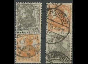 Dt. Reich, S 11 a + S 13 a, gestempelt, gepr. Infla/BPP, Mi. 70,- (12907)