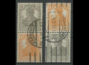 Dt. Reich, S 11 a + S 13 a, gestempelt, gepr. Infla/BPP, Mi. 70,- (12916)