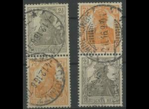 Dt. Reich, S 11 a + S 13 a, gest. 1916, gepr. Infla/BPP, Mi. 70,- (12917)