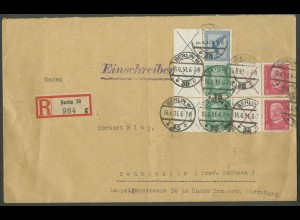 Dt. Reich, W 21.1, 2x W 27.1, 2x W 30.1, R-Brief, Mi.-Handbuch 120,- (12925)