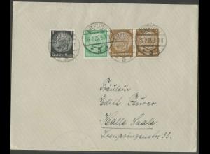 Dt. Reich, W 60, portogerechter Fern-Brief, Mi. 50,- (12932)