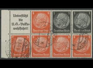 Dt. Reich, HBl. 88 B, gestempelt, Top-Zähnung, Mi. 55,- ++ (12960)
