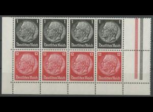 Dt. Reich, HBl. 90 B, postfrische Bogeneccke, Mi. 45,- ++ (12966)