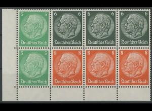 Dt. Reich, HBl. 92 B, postfrische Bogenecke, Mi. 45,- ++ (12971)