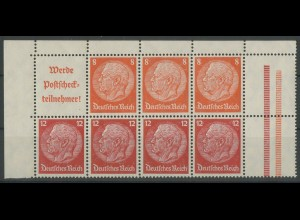 Dt. Reich, HBl. 100 B, Bogenecke, postfrisch, Mi. 45,- ++ (12994)
