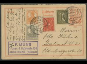 Dt. Reich, S 13, Auslands-Verwendung von Amsterdam nach Berlin (13029)