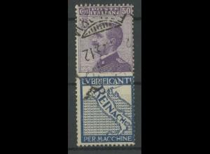 Italien, 92/R4, Reklame-Zusammendruck, gestempelt, Mi. 30,- (13092)