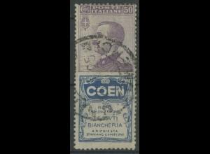 Italien, 92/R8, Reklame-Zusammendruck, gestempelt, Mi. 50,- (13097)