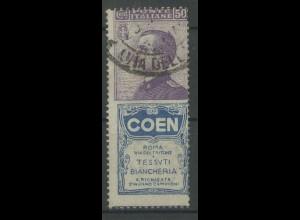 Italien, 92/R8, Reklame-Zusammendruck, gestempelt, Mi. 50,- (13098)
