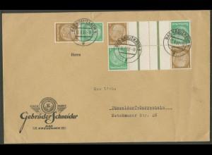 Dt. Reich, KZ 25 (2) + S 129, portogerechter Fern-Brief (13126)