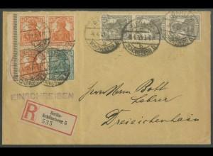 Dt. Reich, W 6 LR 3, portogerechter R-Brief, Mi.-Handbuch 350,- (13182)