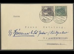 Dt. Reich, S 6, Einzelfrankatur auf Fern-Brief, Mi. Brief 400,- (13190)