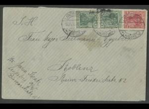Dt. Reich, S 4 II, portogerechter Fern-Brief, Mi. 100,- (13197)
