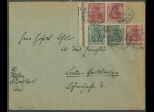 Dt. Reich, S 5 LR 5.2 + W 7 II, portoger. Fern-Brief, Mi.-Handbuch 190,- (13200)