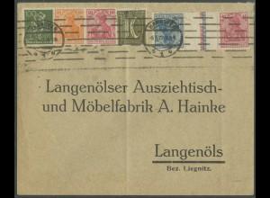 Dt. Reich, KZ 4.2, portogerechter Fern-Brief, Mi. 500,- (13210)