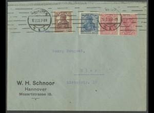 Dt. Reich, WK 2, portogerechter Orts-Brief, Mi.-Handbuch 1000,- (13214)