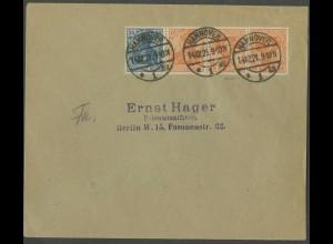 Dt. Reich, WK 1, portogerechter Fern-Brief, gepr. BPP, Mi. 1000,- (13215)