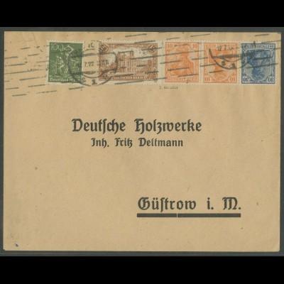 Dt. Reich, WK 1, portogerechter Fern-Brief, gepr. BPP, Mi. 1000,- (13216)