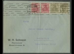 Dt. Reich, WK 3, portogerechter Fern-Brief, Mi. 1600,- ++ (13217)