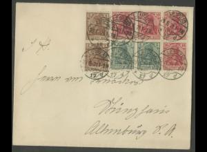 Dt. Reich, HBl. 27, portogerechter Fern-Brief, Mi. 150,- ++ (13235)