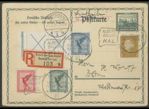 Dt. Reich, RL 15.1, Seepost-Ganzsachen-R-Karte, Mi.-Handbuch 1400,- (13239)