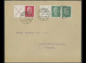 Dt. Reich, W 30.1 + W 27.1, portoger. Auslands-Brief, Mi.-Handbuch 165,- (13253)