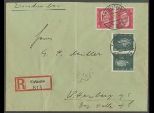Dt. Reich, K 14 + K 12, auf R-Brief, Mi.-Handbuch 100,-, gest. 90,- (13254)
