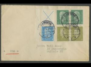 Dt. Reich, S 38 LR + S 42 (2), auf Auslands-Brief, Mi.56,- (13260)