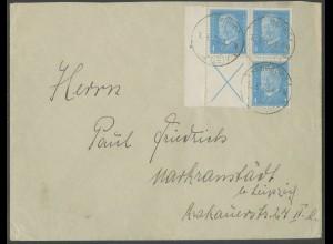 Dt. Reich, S 40 LR, portogerechter Fern-Brief, Mi.-Handbuch 320,- (13265)