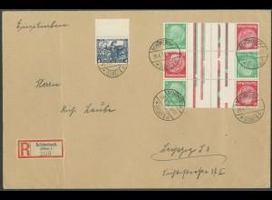 Dt. Reich, KZ 17 (3), auf Fern-Brief, Mi. Brief 320,- (13291)